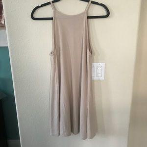 Forever 21 Oatmeal Neutral High Neck Dress